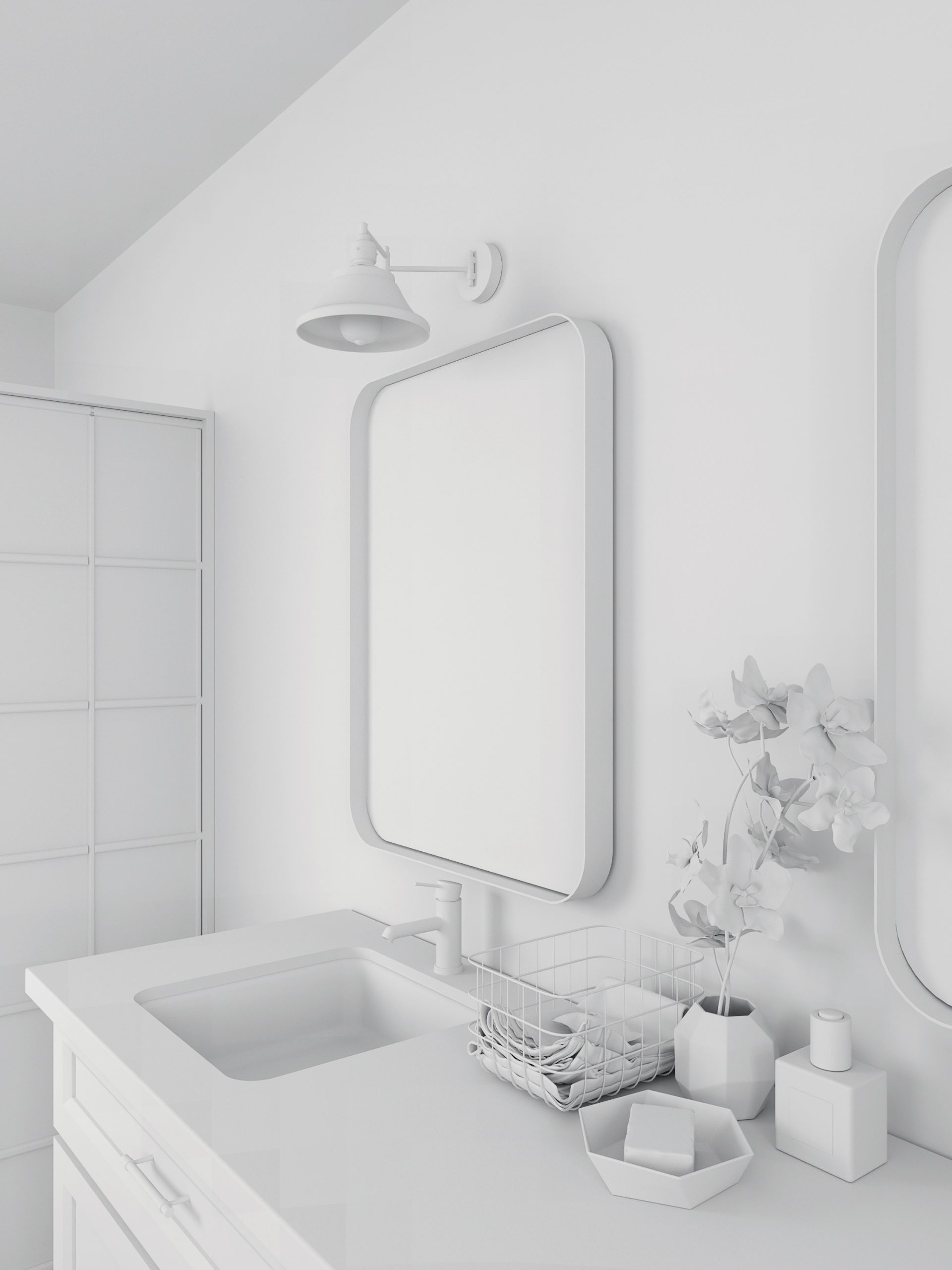 BAÑO RIPPLE WHITE